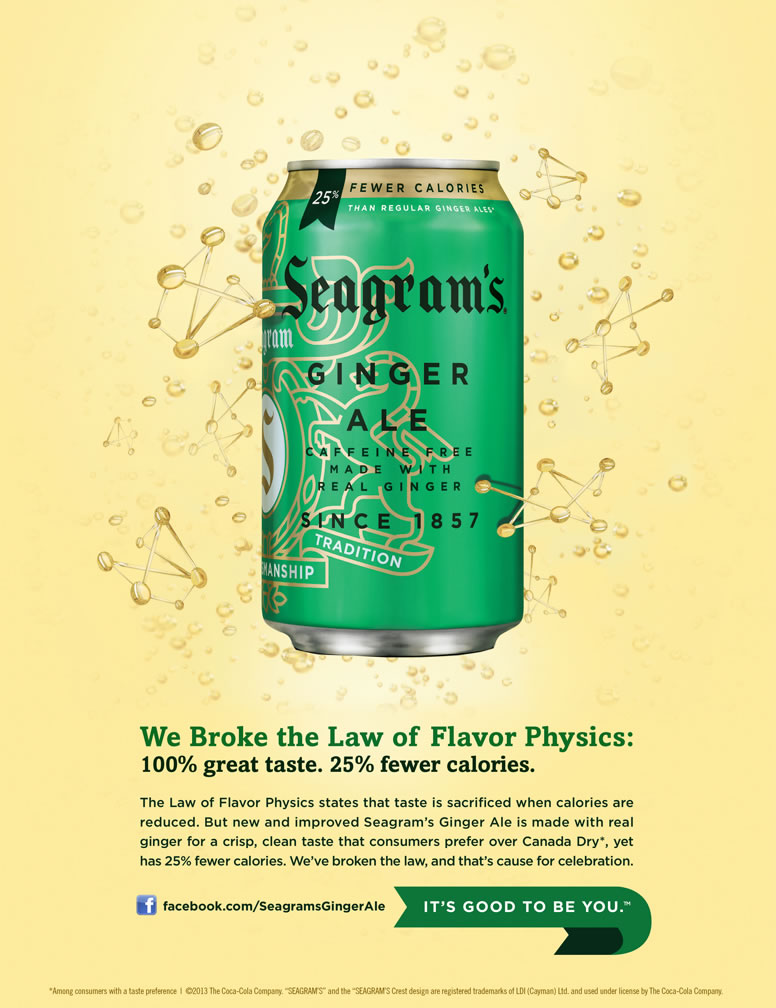 Seagram's - We Broke the Law of Flavor Physics